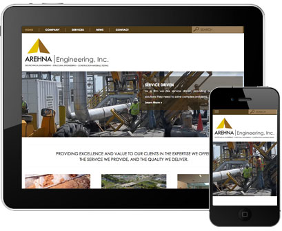 Leverage Digital Launches Responsive Design Website for AREHNA Engineering, Inc. Featured Image