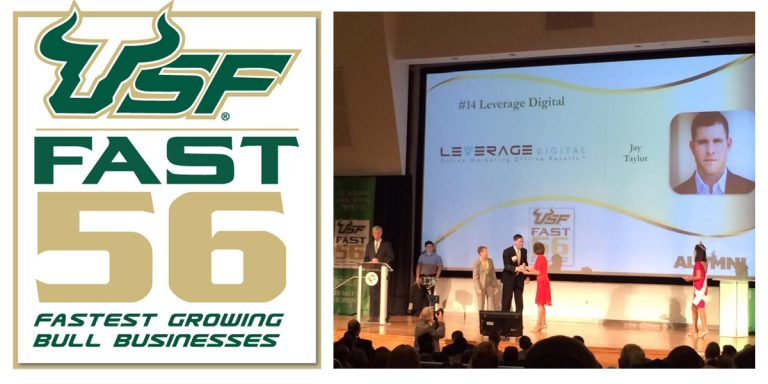 Leverage Digital Honored as Top 25 2016 USF Fast 56 Award Recipient Featured Image