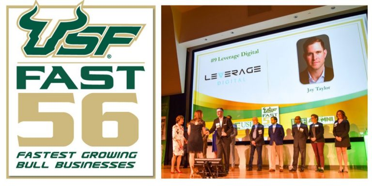 Leverage Recognized by USF as Top 10 Fastest Growing Alumni-Led Company Featured Image